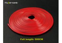 Klassieke flexibele rode striping 0,3x500cm (voorzien van 3M tape)