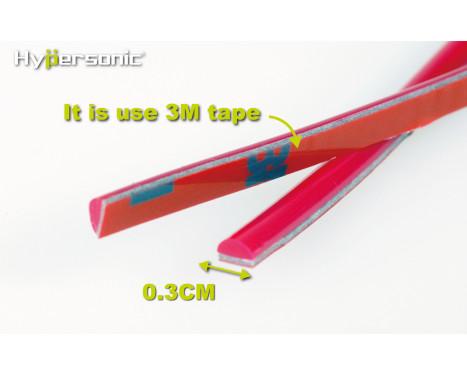Klassieke flexibele rode striping 0,3x500cm (voorzien van 3M tape), Afbeelding 3