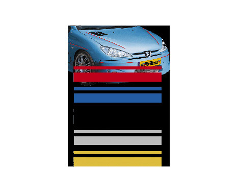 Universele zelfklevende striping AutoStripe Cool350 - Rood - 2+3mm x 975cm