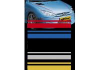 Universele zelfklevende striping AutoStripe Cool350 - Zilver - 2+3mm x 975cm