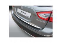 ABS Achterbumper beschermlijst passend voor Suzuki SX4 S-Cross 10/2013- 'Ribbed' Zwart