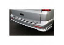 RVS Achterbumperprotector passend voor Volkswagen Transporter T5 2003-2015 (alle) & T6 2015-
