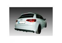 Achterbumperskirt (Diffuser) Audi A3 8V Sportback 2012- (Uitlaatuitsparing links) (ABS)