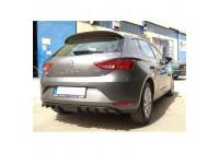 Achterbumperskirt (Diffuser) Seat Leon 5F 5-deurs 2013- (ABS)