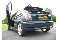 Achterbumperskirt Honda Civic 3-deurs 1996-2001 'Type-R Look' (ABS)