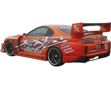 Chargespeed Achterbumper Diffuser Carbon Toyota Supra JZA80, Afbeelding 2