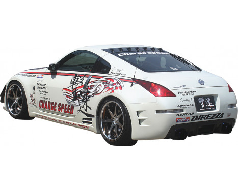 Chargespeed Achterbumper Diffuser Nissan 350Z Z33 Carbon, Afbeelding 2