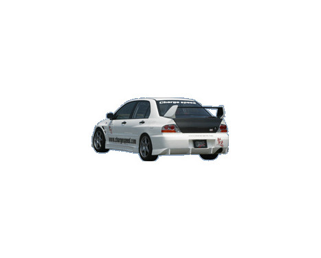 Chargespeed Achterbumper Mitsubishi Lancer EVO 7/8/9 CT9A Type2 excl. Carbon Diffuser, Afbeelding 2