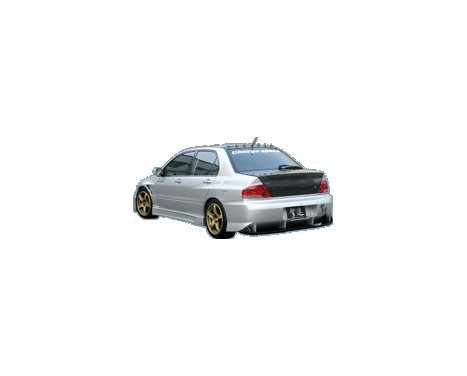Chargespeed Achterbumper Mitsubishi Lancer EVO 7/8/9 CT9A Type2 incl. Carbon Diffuser, Afbeelding 2