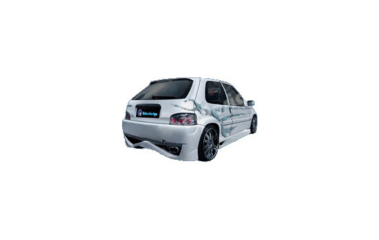 IBherdesign Achterbumper Citroën Saxo 2000- VTS/VTR 'Evo X' incl. gaas