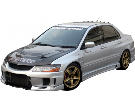 Chargespeed Voorbumper Mitsubishi Lancer EVO 8/9 CT9A Type2 (FRP), Afbeelding 2