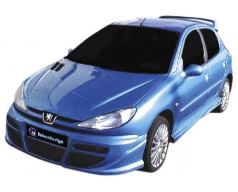 IBherdesign Voorbumper Peugeot 206 'Tekno' incl. gaas, Afbeelding 2