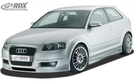Voorbumper + SWR Audi A3 8P 3 deurs 2003-2005 'SingleFrame 1' (GFK)