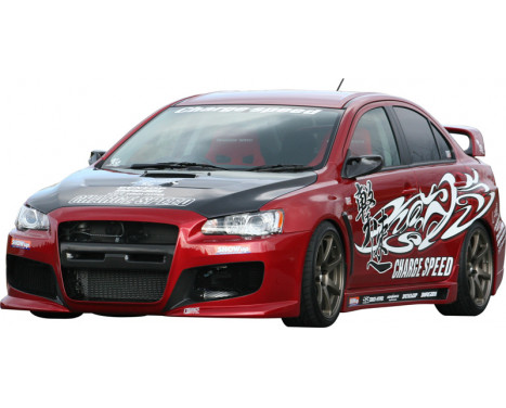 Chargespeed Voorbumper Mitsubishi Lancer Evo X CZ4A (FRP), Afbeelding 2