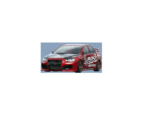 Chargespeed Voorbumper Mitsubishi Lancer Evo X CZ4A (FRP), Afbeelding 3