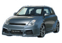 IBherdesign Spatbordverbreders 'voor' Suzuki Swift 3-deurs 2005- 'Karang Wide'