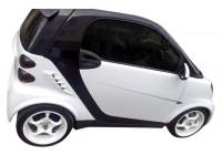 Spatbordverbreders (achterzijde) MCC Smart ForTwo 4/2007- (2-delig) (ABS)
