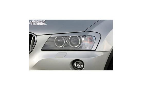 Koplampspoilers BMW X3 F25 2010-2014 (ABS)