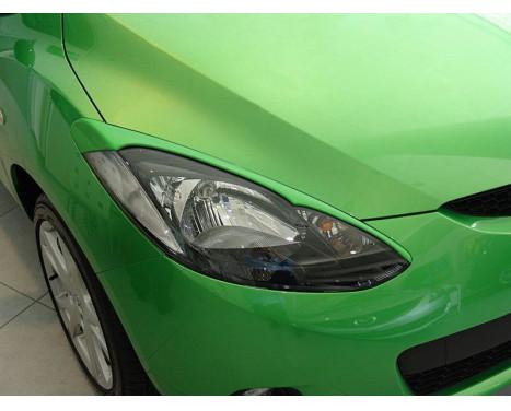 Koplampspoilers Mazda 2 2007- (ABS)
