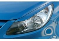 Koplampspoilers Opel Corsa D 2006- (ABS)