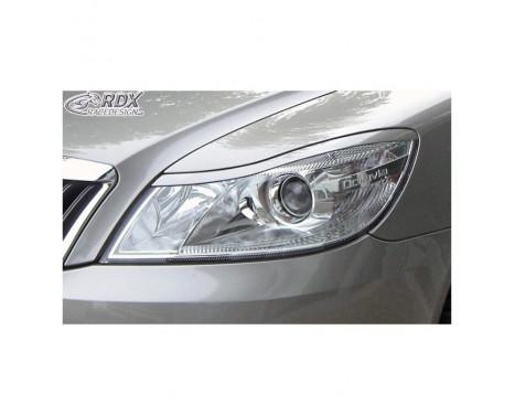 Koplampspoilers Skoda Octavia II Facelift 2009-2012 (ABS)
