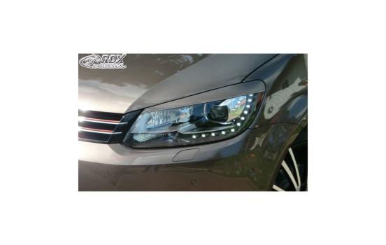 Koplampspoilers Volkswagen Touran 1T1 Facelift 2011-2014 & Caddy 2010-2015 (ABS)