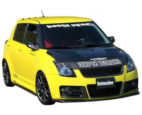 Chargespeed Voorspoiler Suzuki Swift II Sport 2005- 'BottomLine' (FRP)
