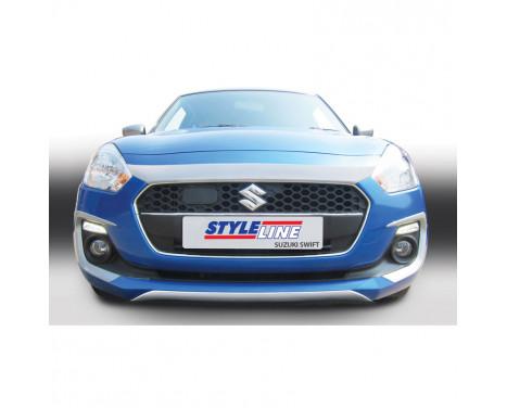 RGM Voorspoiler 'Skid-Plate' Suzuki Swift IV 5-deurs excl. Sport 5/2017- Zilver