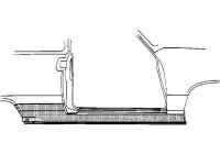 PLAATWERKDEEL Dorpel  2-deurs R