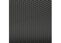 Racegaas aluminium zwart - ruitdesign 16x8mm - 125x25cm