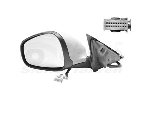 Buitenspiegel  LINKS  Elektrisch Verstelbaar +Temperatuursensor 0160807 Hagus, Afbeelding 2