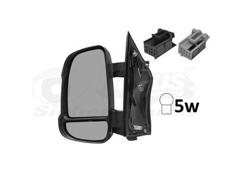 Buitenspiegel  LINKS VOLLEDIG +Temp Sensor 1651803 Hagus, Afbeelding 2