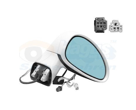 Buitenspiegel rechts elektrisch  +Temp 0970808 Hagus, Afbeelding 2