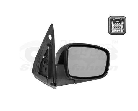 Buitenspiegel rechts elektrisch  ZWART 8208806 Hagus, Afbeelding 2