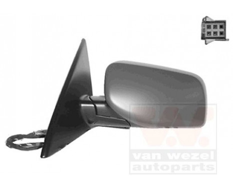 ELEKTRISCHE Buitenspiegel RECHTS BMW E60 Heat.FoLINKS Lamp.Mem 0655820 Hagus, Afbeelding 2