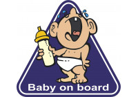 Sticker Baby On Board Crying Baby - 12,5x11,9cm
