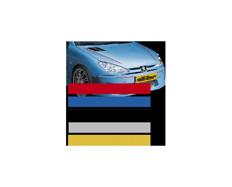 Bandes autocollantes universelles AutoStripe Cool200 - Bleu - 6,5 mm x 975 cm, Image 2