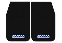 Bavettes universelles 'Large' Sparco - Noir, set de 2 pièces