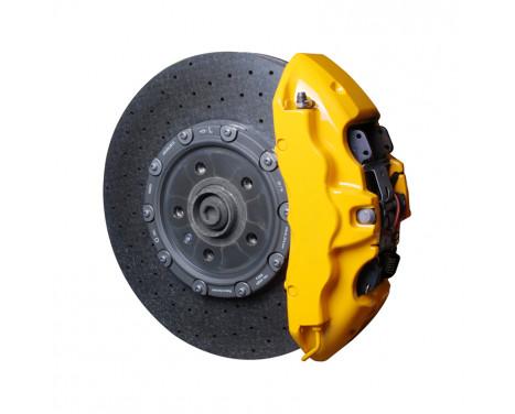 Foliatec Set de peinture pour étrier de frein - Performance Yellow Glossy - 7 pièces
