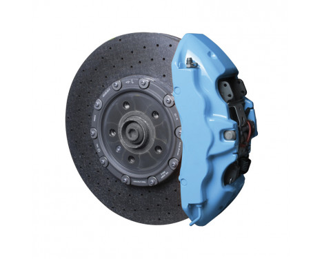 Kit peinture étrier de frein Foliatec - bleu ciel - 7 pièces
