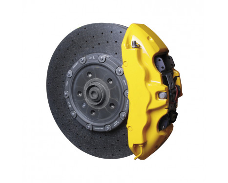 Set de peinture pour étriers de frein Foliatec - jaune vitesse - 7 pièces