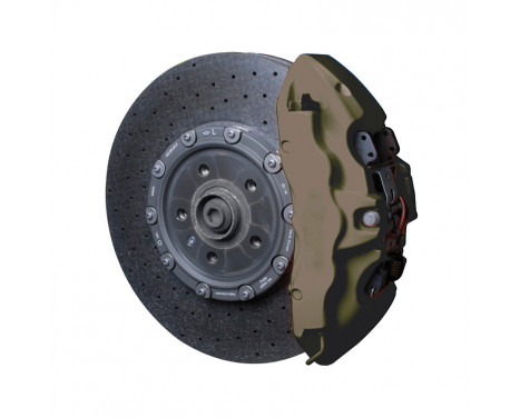 Set de peinture pour étriers de freins Foliatec - Vert Combat mat - 7 pièces