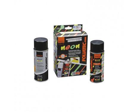 Film de pulvérisation Foliatec (film pour spray) Ensemble de 2 pièces NEON - vert 1x400ml + couche de base 1x400ml