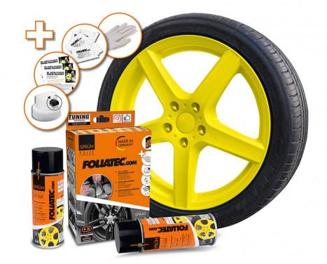 Foliatec Spray Film Set - jaune brillant - 2x400ml