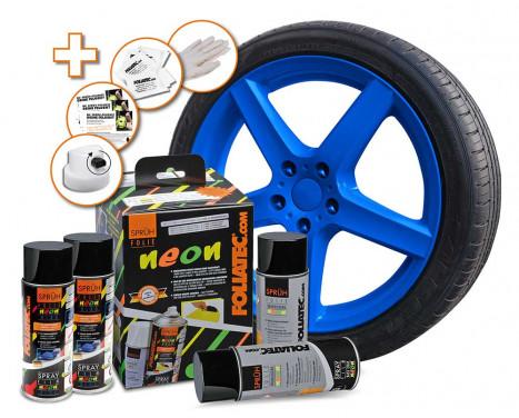 Foliatec Spray Film (Spray Foil) set - NEON blue - 4 pièces