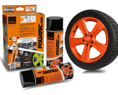 Foliatec Spray Film (Spray Foil) Set - orange brillant - 2x400ml