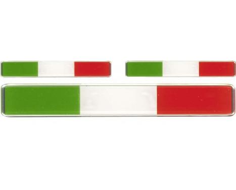 Autocollant 3D '' Italia Flag '' 3pcs