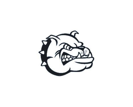 Autocollant Bulldog Head - noir - 16x13cm