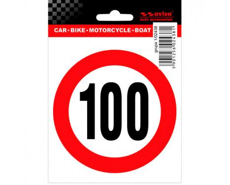 Autocollant de tatouage, limite de vitesse 100km - 9.5x10cm