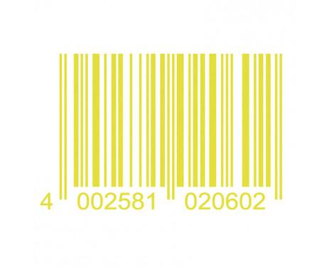 Autocollant Foliatec Cardesign - Code - jaune néon - 37x24cm